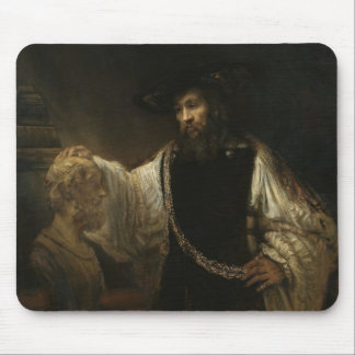 Aristotle (384-322 BC) with a Bust of Homer Mouse Pad
