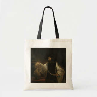 Aristotle (384-322 BC) with a Bust of Homer Tote Bag