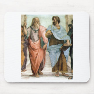 Aristotle and Plato walking at Raphael's School Mouse Pad