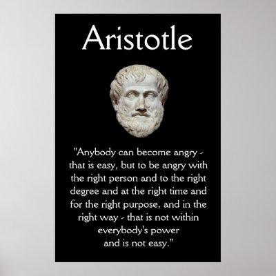 Aristotle - Human Behavior Quote Poster | Zazzle