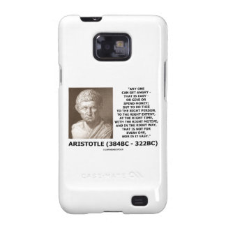 Aristotle Any One Can Get Angry Right Person Time Samsung Galaxy S2 Cover