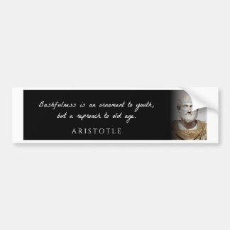 Aristotle - Bashfulness is an ornament to but ... Bumper Sticker