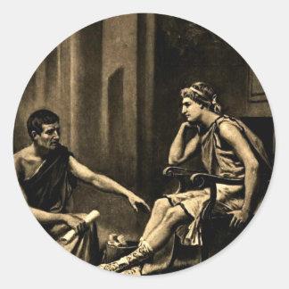 aristotle classic round sticker
