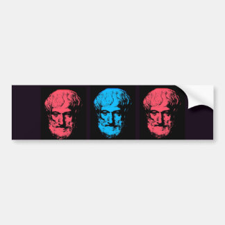 Aristotle Collage Bumper Sticker