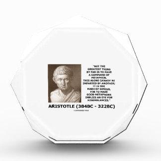 Aristotle Command Of Metaphor Mark Of Genius Quote Award