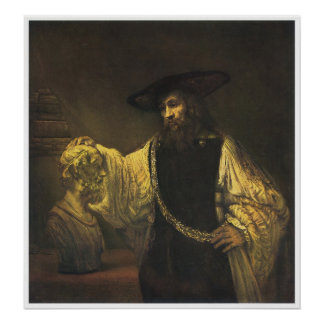 Aristotle Contemplating the bust of Homer, 1653 Poster