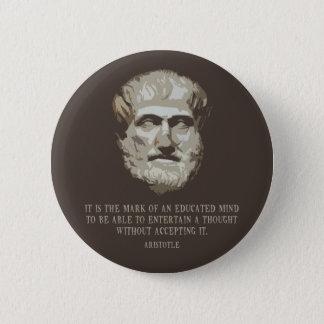 Aristotle Educated Mind Button