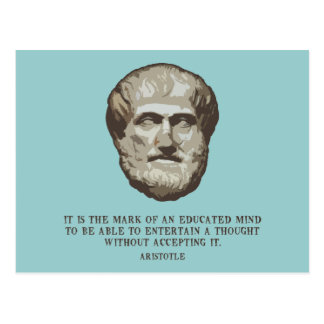 Aristotle Educated Mind Postcard
