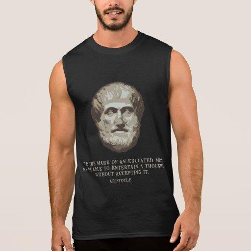 Aristotle Educated Mind Sleeveless Tees Tank Tops, Tanktops Shirts