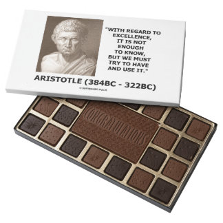 Aristotle Excellence Not Enough To Know Must Try 45 Piece Box Of Chocolates