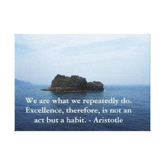 Aristotle Excellence Quotation Canvas Print
