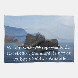 Aristotle Excellence Quotation Towel