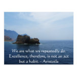 Aristotle Excellence Quotation Postcards