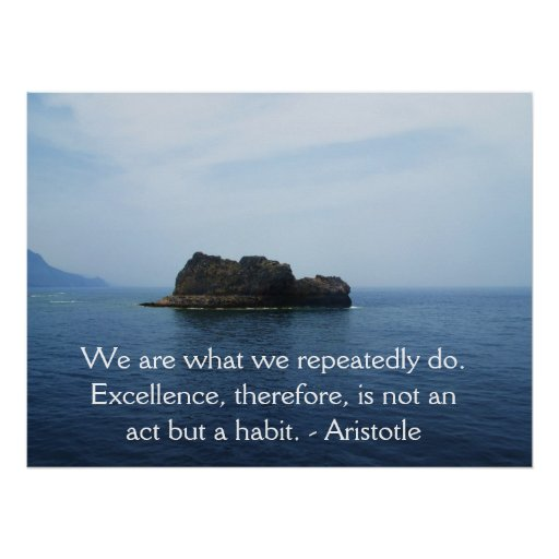 Aristotle Excellence Quotation Print