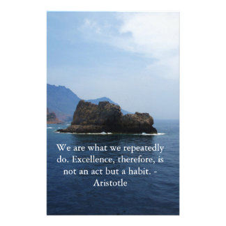 Aristotle Excellence Quotation Personalized Stationery