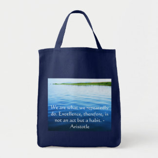 Aristotle Excellence Quotation Tote Bag