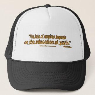 Aristotle - fate of empires trucker hat