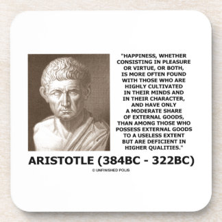Aristotle Happiness Cultivated Minds Character Coaster