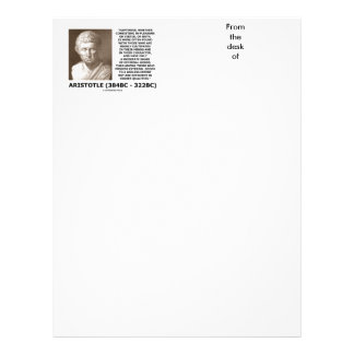 Aristotle Happiness Cultivated Minds Character Customized Letterhead