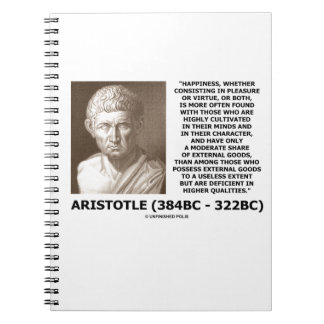 Aristotle Happiness Cultivated Minds Character Notebook