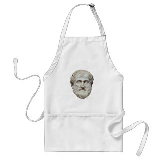 Aristotle Head Sculpture Adult Apron