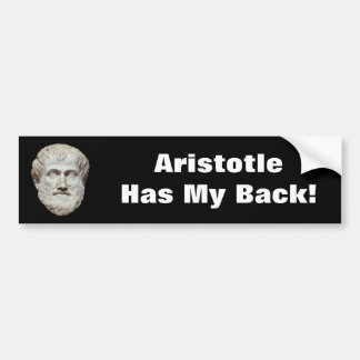 Aristotle Head Sculpture Bumper Sticker