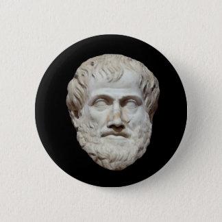 Aristotle Head Sculpture Pinback Button