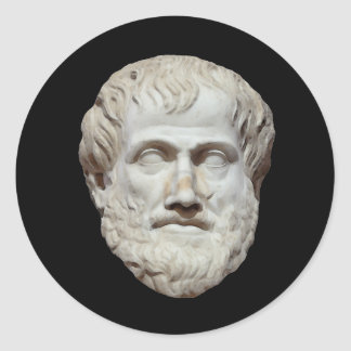 Aristotle Head Sculpture Round Stickers