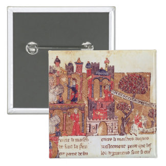 Aristotle instructs Alexander the Great in 2 Inch Square Button