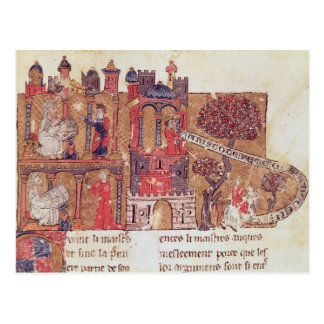 Aristotle instructs Alexander the Great in Postcard