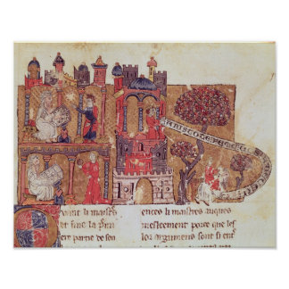 Aristotle instructs Alexander the Great in Poster