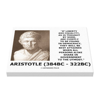 Aristotle Liberty Equality Democracy Share In Govt Canvas Print