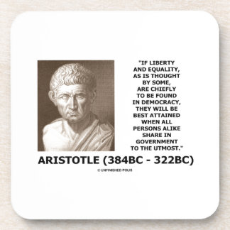 Aristotle Liberty Equality Democracy Share In Govt Coasters