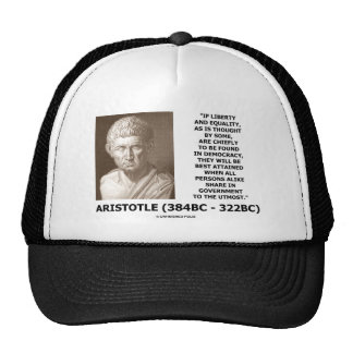 Aristotle Liberty Equality Democracy Share In Govt Trucker Hat