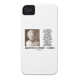 Aristotle Liberty Equality Democracy Share In Govt iPhone 4 Case-Mate Case