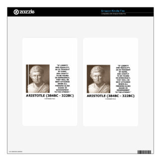 Aristotle Liberty Equality Democracy Share In Govt Kindle Fire Skin