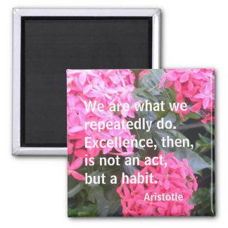 Aristotle Motivational Quotation Magnet