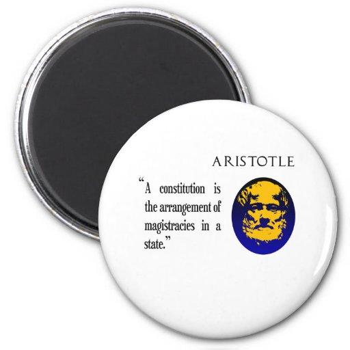 Aristotle on constitution fridge magnet