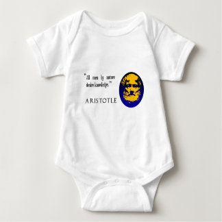 Aristotle on knowledge baby top t shirt