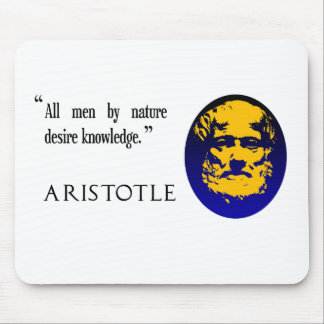 Aristotle on knowledge. Mousepad, mousemat Mouse Pad