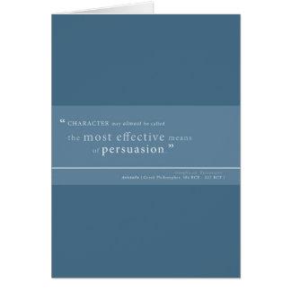 Aristotle on Persuasion Greeting Card