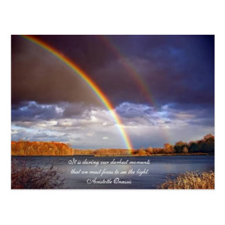 Aristotle Onassis Quotes Rainbows Postcard