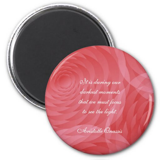 Aristotle Onassis Quotes Rosey Round Magnet