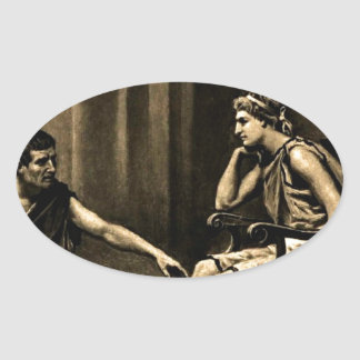 aristotle oval sticker