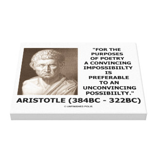 Aristotle Poetry Convincing Impossibility Quote Canvas Print