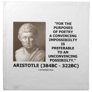 Aristotle Poetry Convincing Impossibility Quote Napkin