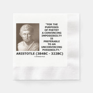 Aristotle Poetry Convincing Impossibility Quote Paper Napkin