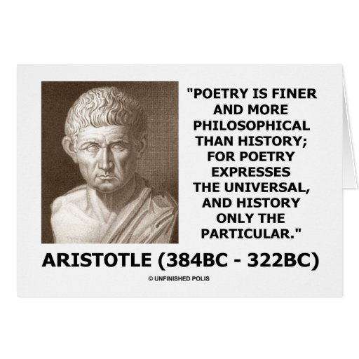 Aristotle Poetry Finer More Philosophical History Card