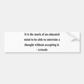 Aristotle Quote 1a Car Bumper Sticker