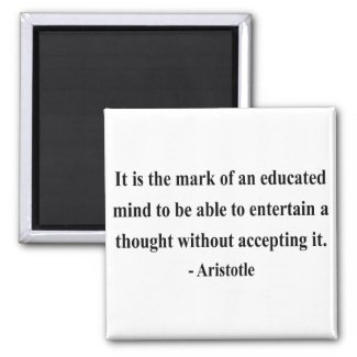 Aristotle Quote 1a magnet